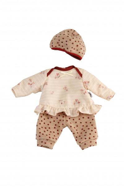 Kleidung zu Puppe Schlummerle 32 cm, Kleidung rose/weiss mit Mütze