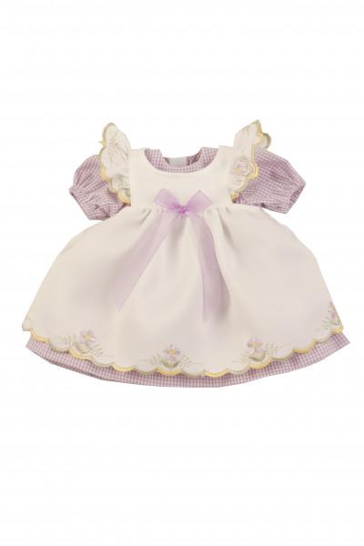 Kleidung zu Stehpuppe 41 cm Sommerkleid weiss/lila