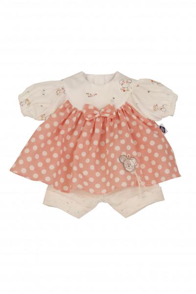 Kleidung zu Puppe 37 cm Strampelchen/Schlenkerle/Schlummerle rose/weiss