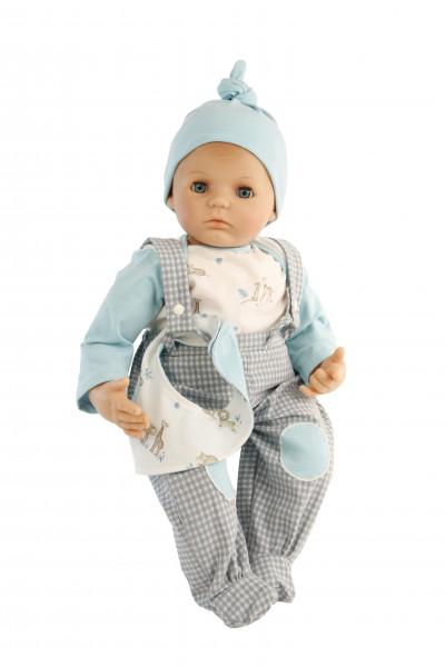 Kleidung zu Puppe 52 cm Peterle/Klara/Elli/Julchen weiss/mint/grau