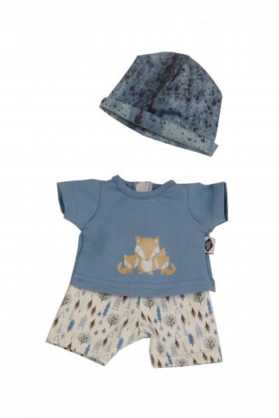 Kleidung zu Puppe Sunny 30 cm blau/weiss