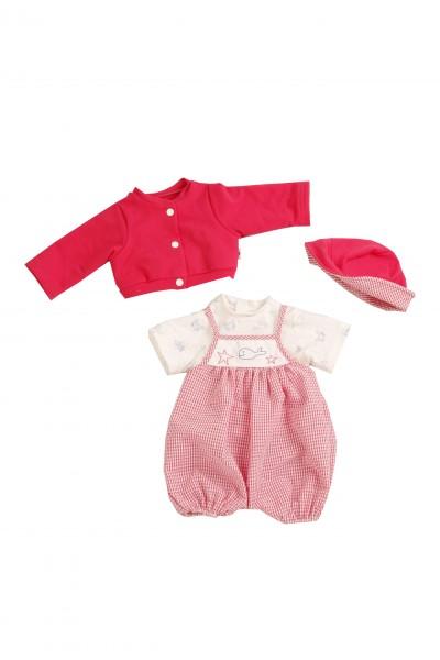 Kleidung zu Puppe 52 cm Julchen/Peterle/Klara/Elli rot/weiss