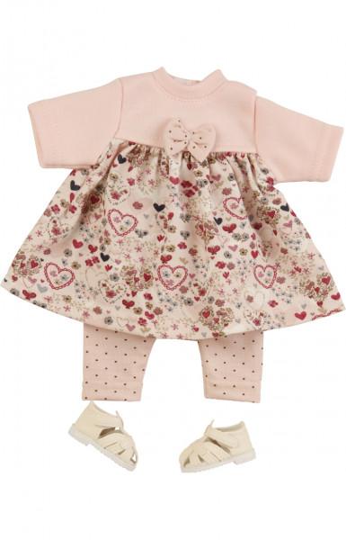 Kleidung zu Puppe Schlummerle 32 cm, Modell Lieblingskleid