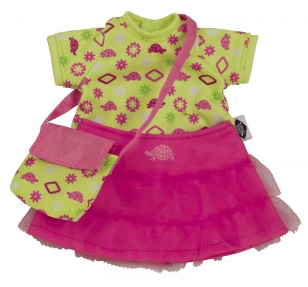 Kleid grün/pink für Puppe Emmeline 30 cm