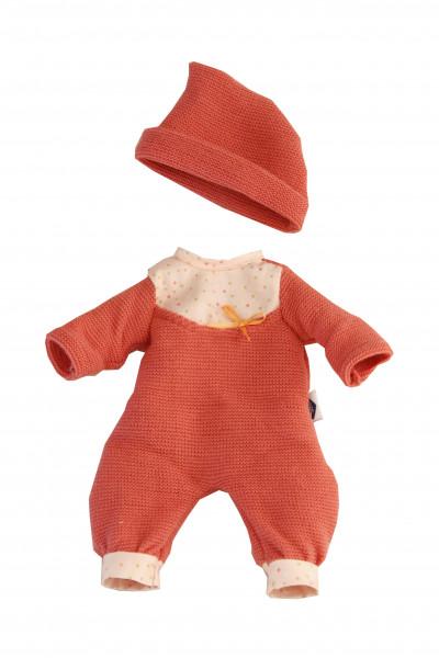 Kleidung zu Puppe Mein 1. Baby 28 cm Strickoverall rot
