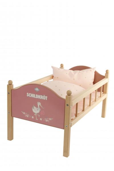 Puppenbett für Puppen bis 45 cm