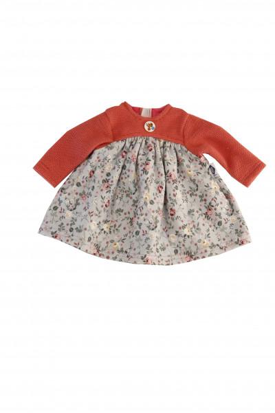 Kleid für Puppen 32-52 cm in rot/blau/weiss