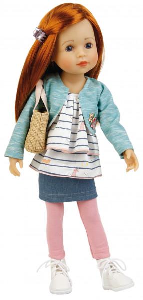 Stehpuppe Yella 46 cm rote Haare, sommerliche Kleidung