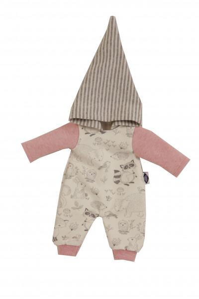 Kleidung zu Puppe Mein 1. Baby 28 cm Overall rose/weiss