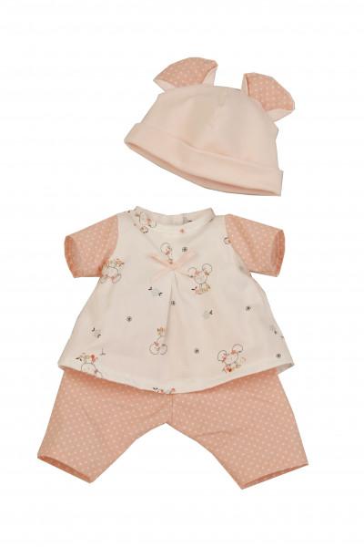 Kleidung zu Puppe Sunny 30 cm rose/weiß