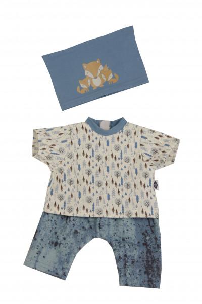 Kleidung zu Badepuppe Brüderchen 45 cm blau/weiss