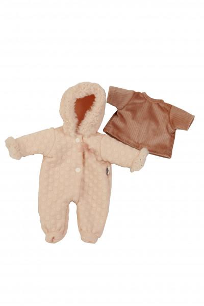 Kleidung zu Puppe Schlummerle 32 cm, winterlich in rose/altrose
