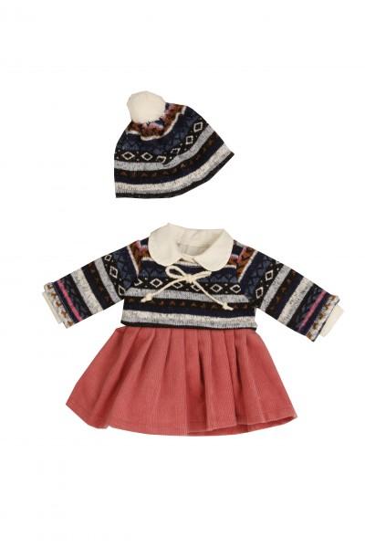Kleid für Stehpuppe 34 bis 49 cm winterlich
