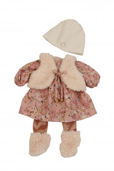 Kleidung zu Puppe 45 cm Hanni/Susi winterlich in rose/weiss
