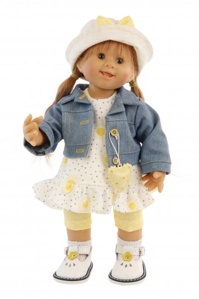 Puppe Müller-Wichtel Fiona 30 cmrote Haare, Kleidung gelb/weiss/blau