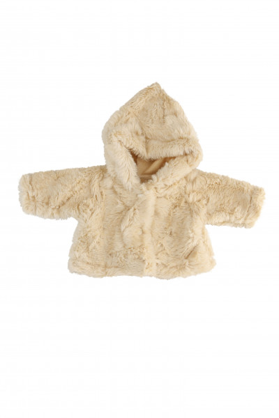 Kleidung Felljacke zu Puppe 32 -52 cm beige