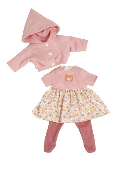 Kleidung zu Puppe 37 cm Schlummerle/Schlenkerle/Strampelchen rose/weiss/roten