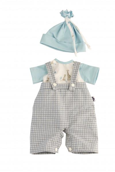 Kleidung zu Trink + Näßbaby 40 cm Finn weiss/blau