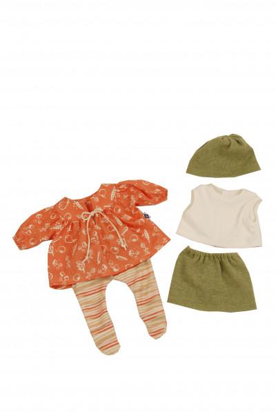 Kleidung zu Puppe 45 cm Hanni/Susi orange/grün