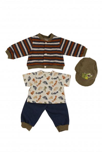 Kleidung zu Puppe 52 cm Peterle/Klara/Elli/Julchen Dino-Look