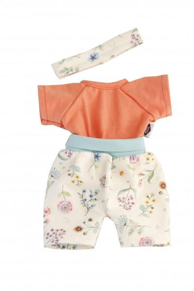 Kleidung zu Schmuserle/Löckchen 30 cm Blumenhose, Short und Stirnband