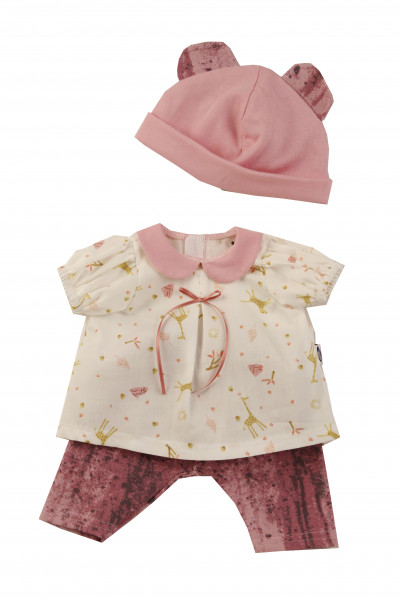 Kleidung zu Badepuppe Schwesterchen 45 cm weiss/rose