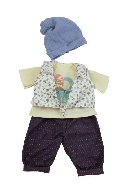 Kleidung zu Puppe 52 cm Elli/Klara/Julchen blau/gelb