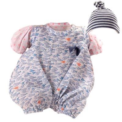 Kleidung zu Puppe 32 cm Schlummerle Modell Neonfisch