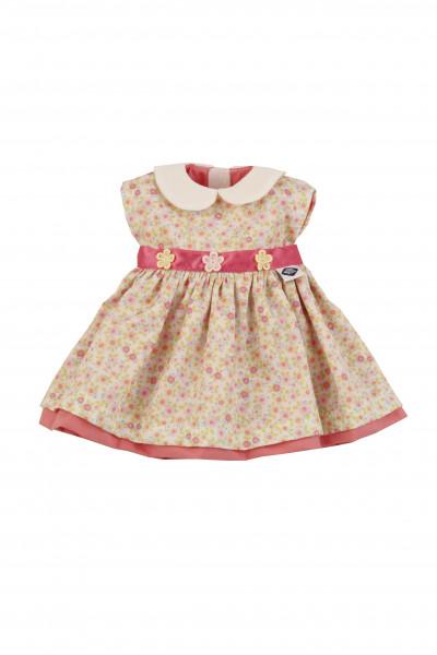 Kleidung zu Stehpuppe 41 cmSommerkleid beige/rose