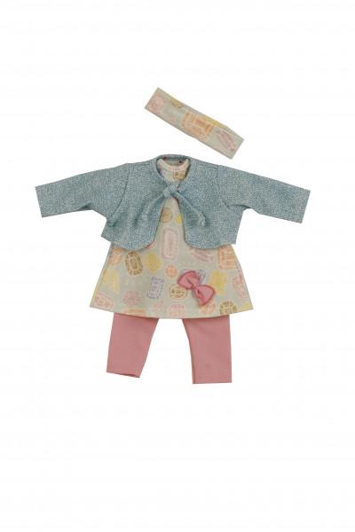 Kleidung zu Puppe 37 cm Schlummerle/Strampelchen/Schlenkerle rose/mint/türkis/gelb