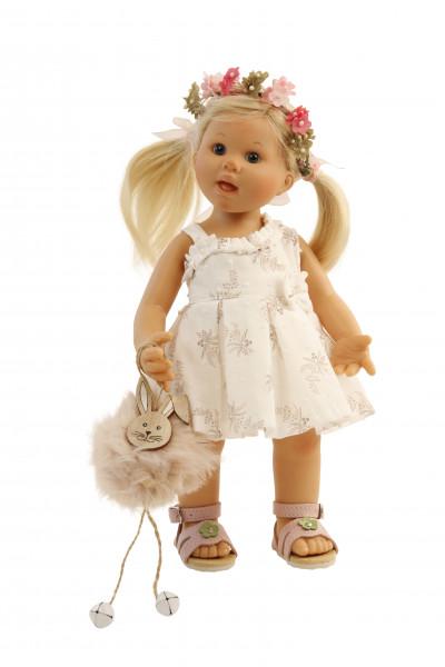 Puppe Müller-Wichtel Emma 30 cm blonde Haare, Kleidung festlich