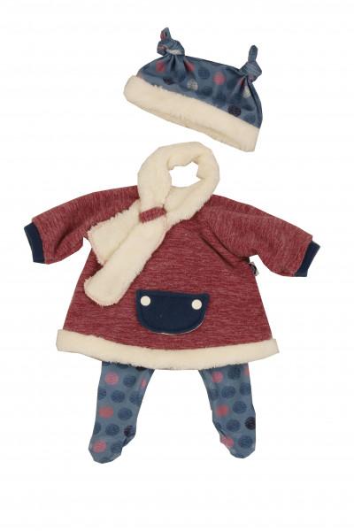 Kleidung zu Puppe 37 cm Schlummerle/Strampelchen/Schlenkerle winterlich
