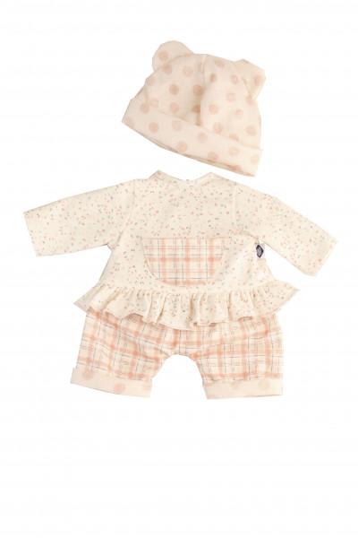 Kleidung zu Puppe 37 cm Lenchen/Strampelchen/Schlenkerle/Schlummerle, Kleidung rose/weiss