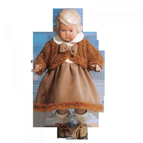 Kleid für Stehpuppe 18 cm, winterlich