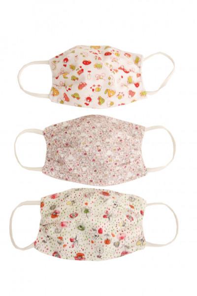 Nasen/Mundbedeckung für Kinder aus Baumwolle 3er Pack