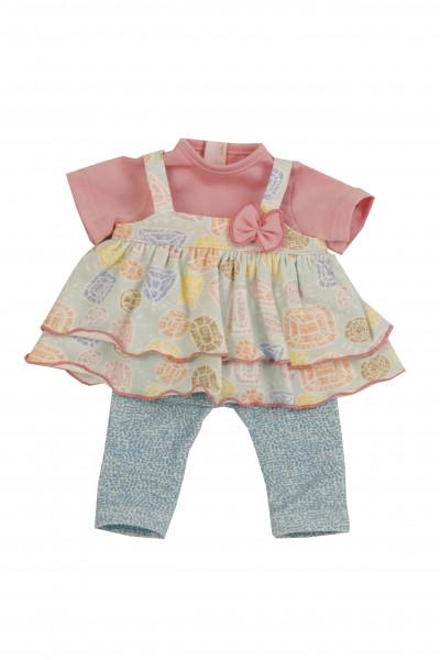 Kleidung zu Puppe 37 cm Schlummerle/Strampelchen/Schlenkerle rose/gelb/blau