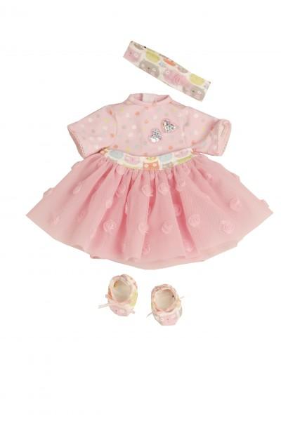Kleidung zu Puppe 37 cm Schlummerle/Schlenkerle/Strampelchen rose mit Tüllrock