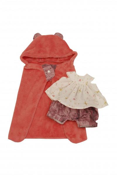 Kleidung zu Badepuppe Schwesterchen 45 cm rose/weiss mit Badetuch