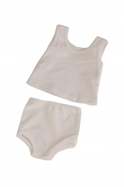 Unterwäsche Hemd +Slip von 25 bis 64 cm, weiss