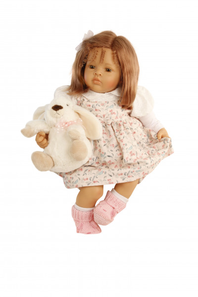 Baby Melissa 50 cm von Natali Blick rote Haare, Kleidung rot/weiss/blau