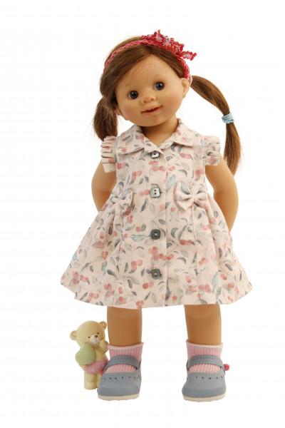 Puppe Müller-Wichtel Frieda 30 cm braune Haare, Sommerkleid
