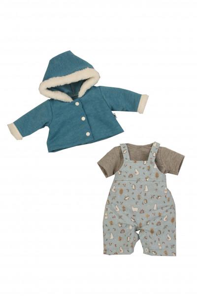 Kleidung zu Baby Amy 45 cm Winterkleidung türkis/mint