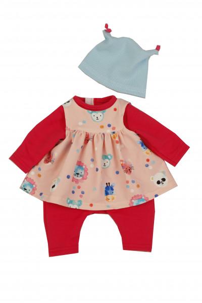 Kleidung zu Trink + Näßbaby 40 cm Lina rose/rot/blau