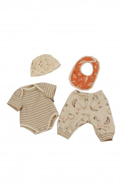 Kleidung zu Trink + Näßbaby 40 cm Finn beige/orange
