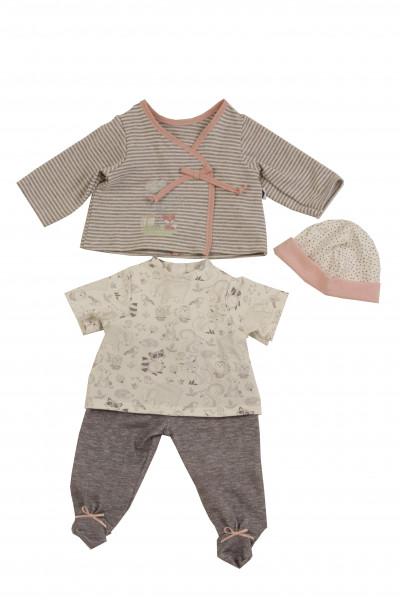 Kleidung zu Puppe 52 cm Julchen/Peterle/Klara/Elli grau/weiss