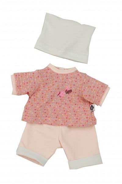 Kleidung zu Puppe Schlummerle 32 cm, rose/mint/weiss