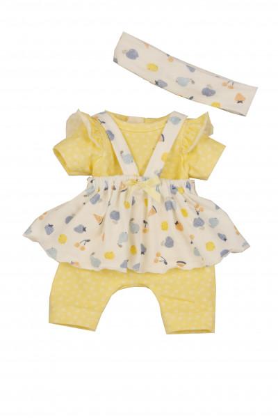 Kleidung zu Puppe Sunny 30 cm gelb/weiss/blau