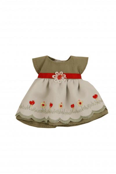 Kleid für Stehpuppe 18 cm, sommerlich