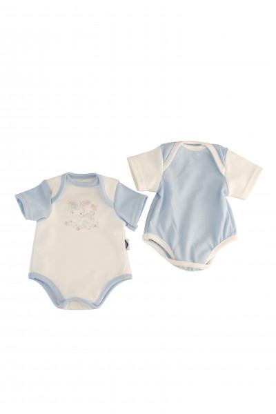 Kleidung Body blau zu Puppe 32 -52 cm (2er Set)