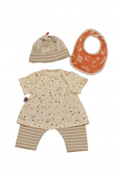 Kleidung zu Trink + Näßbaby 40 cm Lina beige/orange